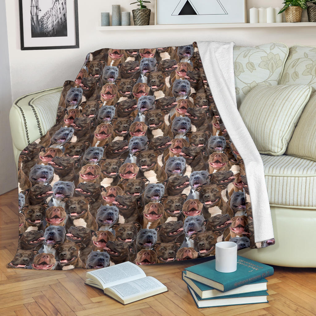 Pitbull Full Face Blanket
