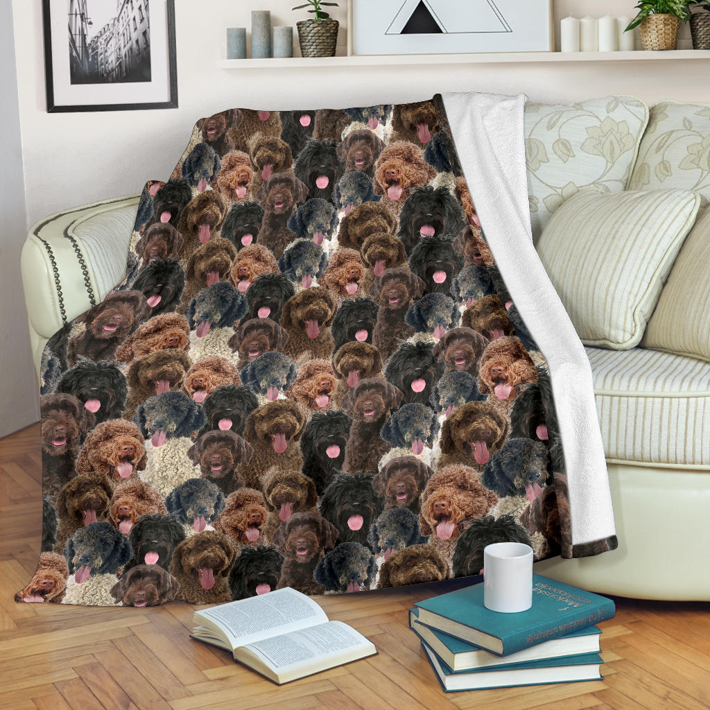 Portuguese Water Dog Full Face Blanket