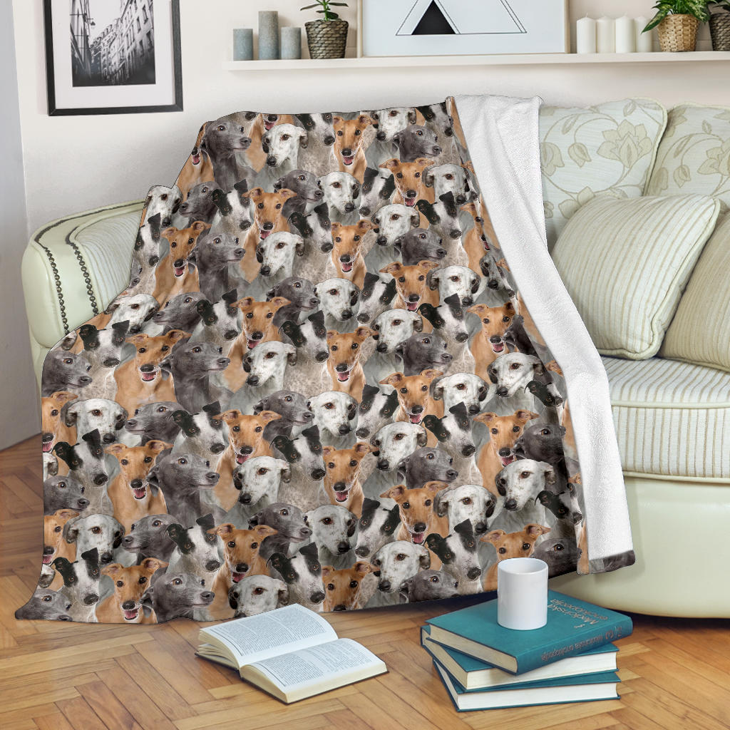 Greyhound Full Face Blanket