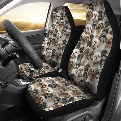 Shih Tzu Full Face Car Seat Covers