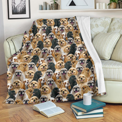 American Cocker Spaniel Full Face Blanket