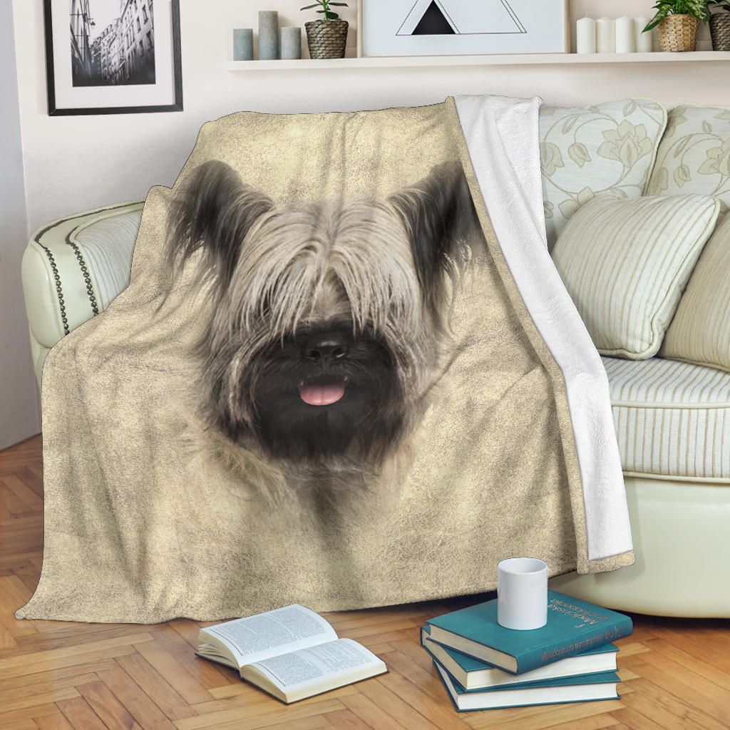Skye Terrier Face Hair Blanket