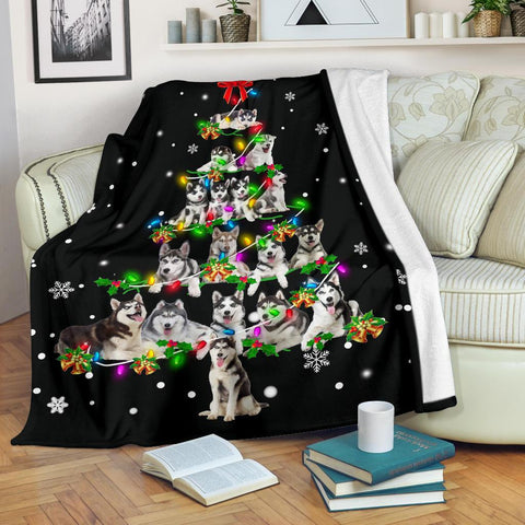 Husky Christmas Tree