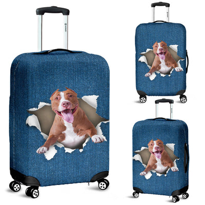 American Pit Bull Terrier Torn Paper Luggage Covers