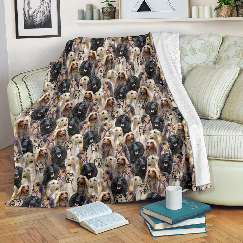 Afghan Hound Full Face Blanket