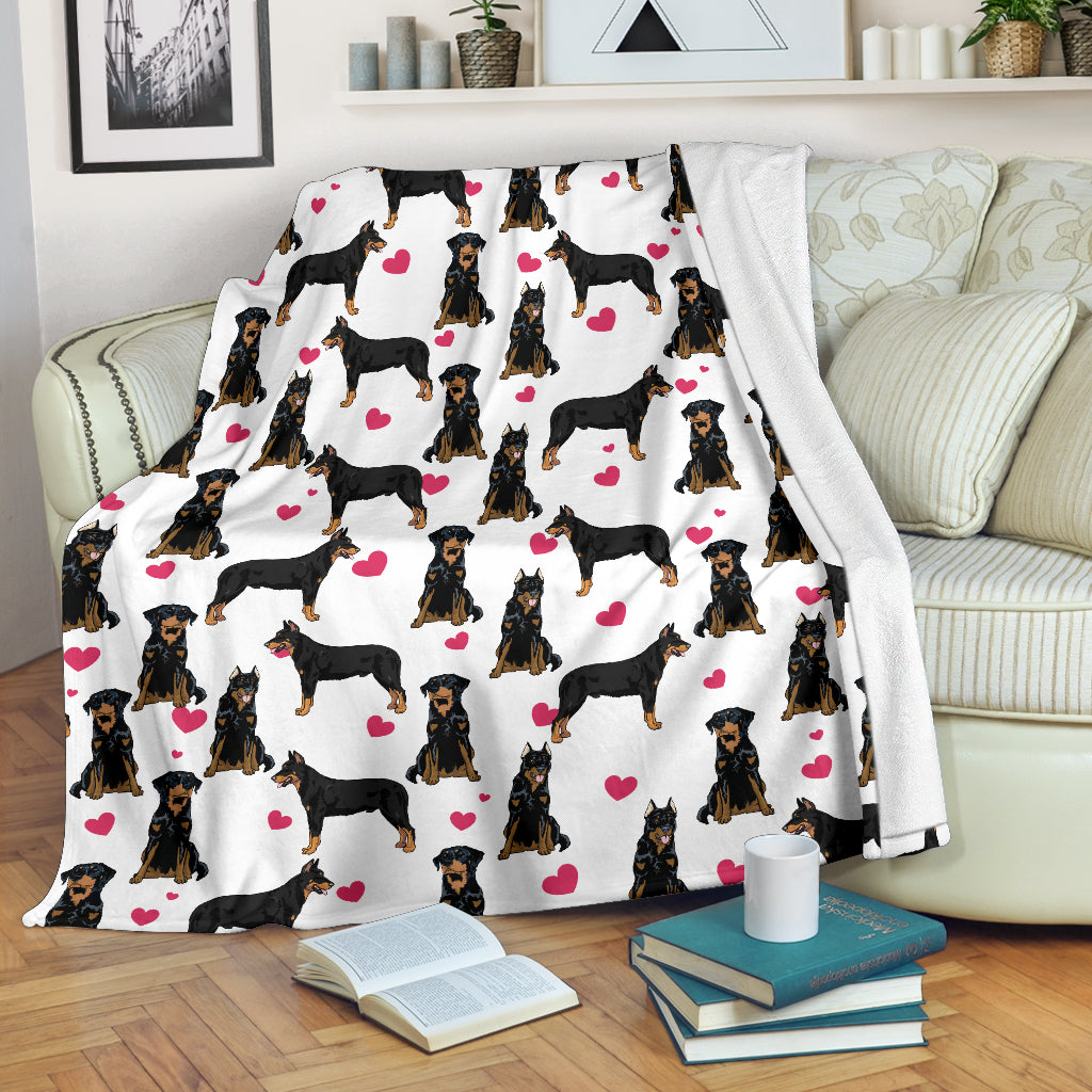 Beauceron Heart Blanket