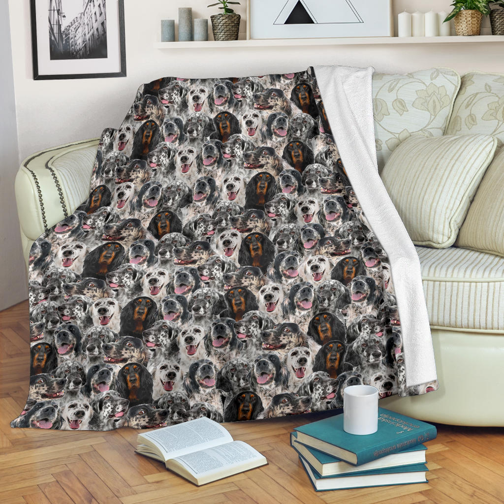 English Setter Full Face Blanket