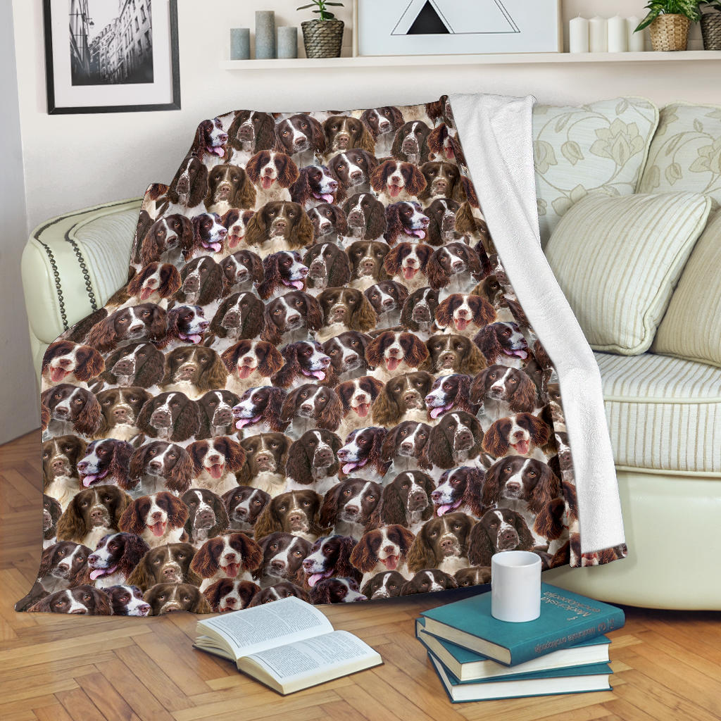 English Springer Spaniel Full Face Blanket