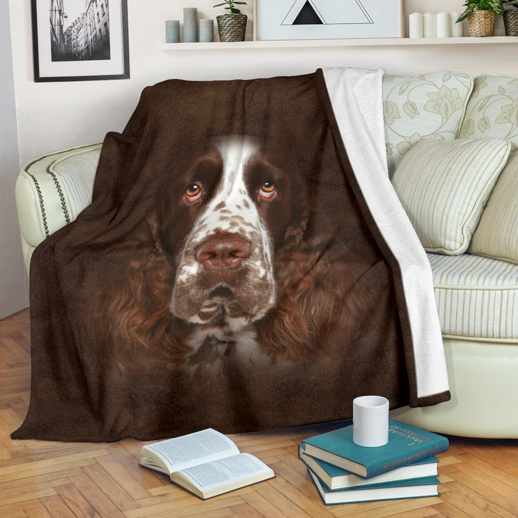 English Springer Spaniel Face Hair Blanket