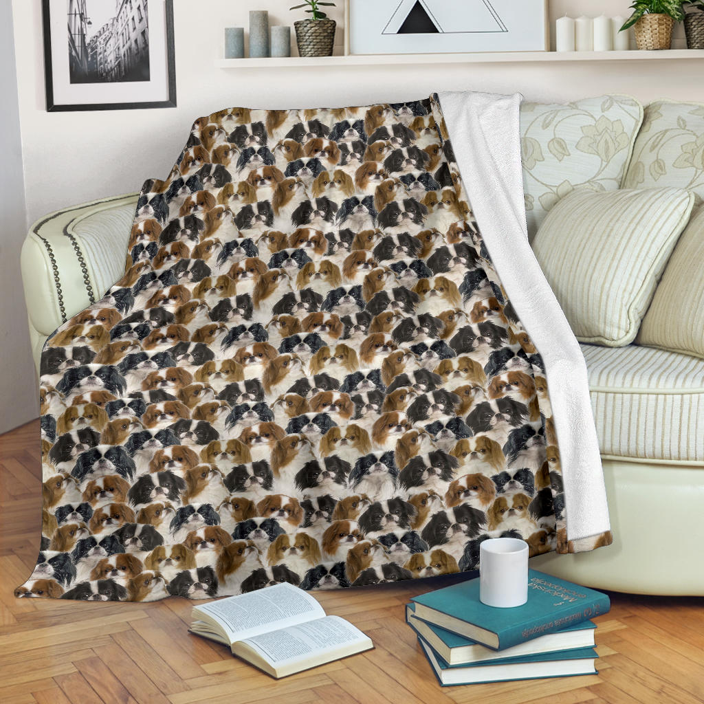 Japanese Chin Full Face Blanket