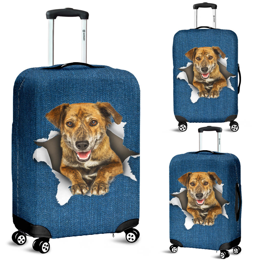 Plott Hound Torn Paper Luggage Covers