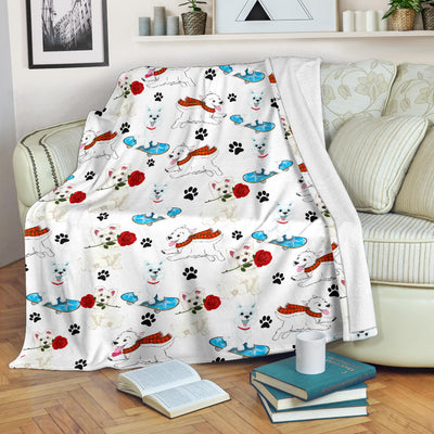 West Highland White Terrier Paw Blanket