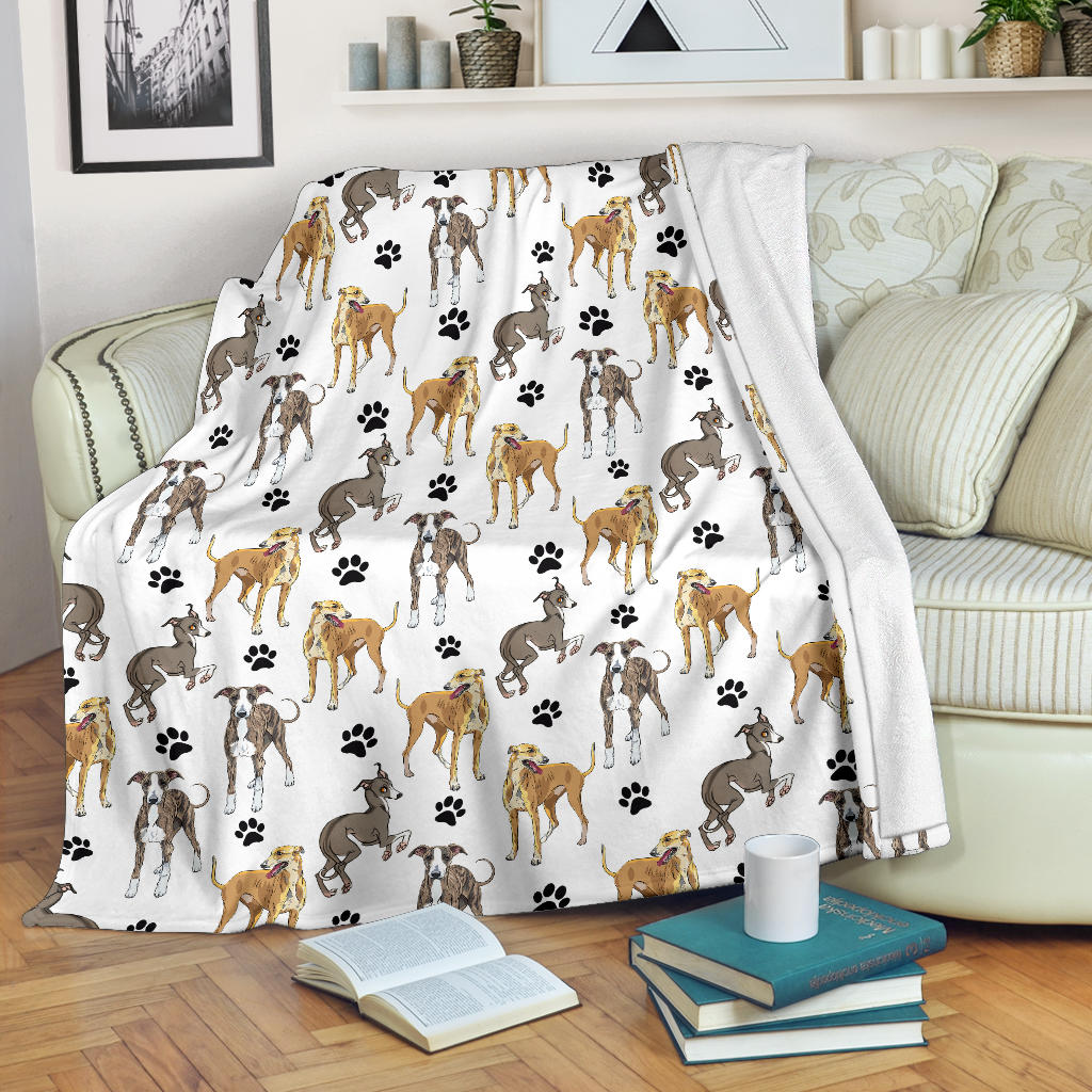 Sighthound Paw Blanket