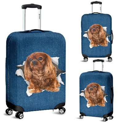 King Charles Spaniel Torn Paper Luggage Covers