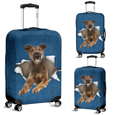 Lurcher Torn Paper Luggage Covers