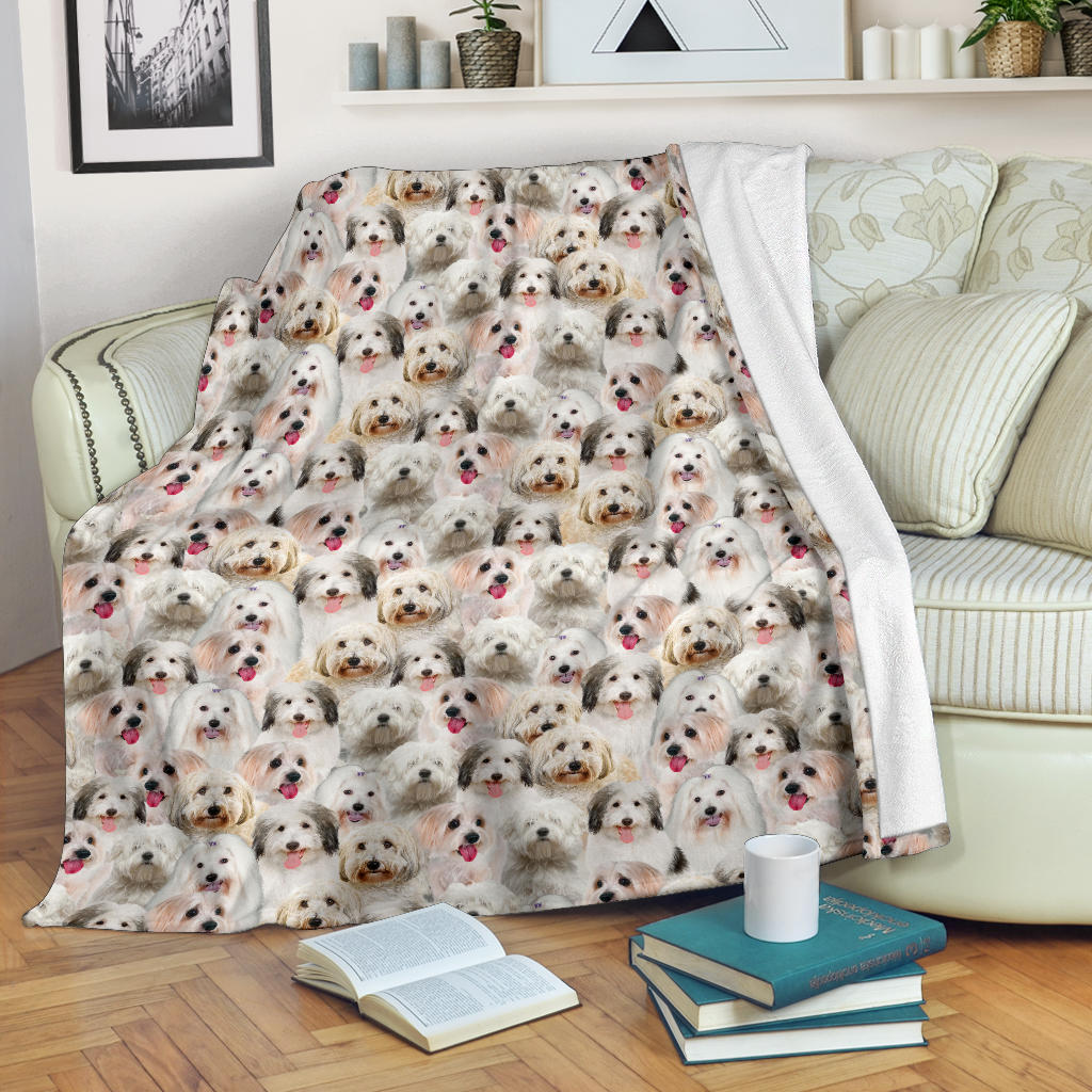 Coton de Tulear Full Face Blanket