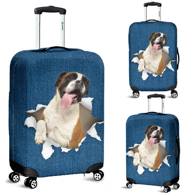 Boxer Torn Paper Luggage Covers
