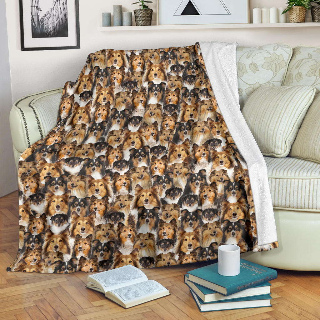 Shetland Sheepdog Full Face Blanket