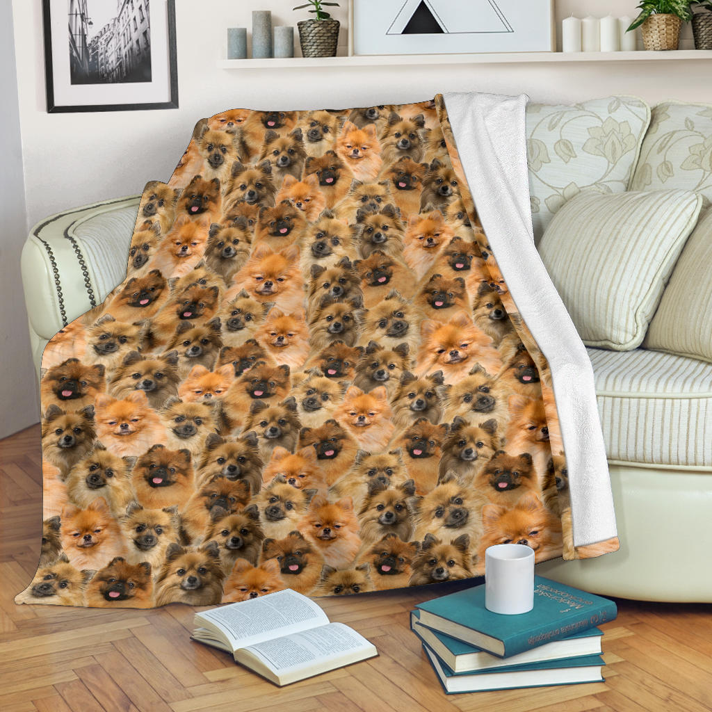 German Spitz Full Face Blanket