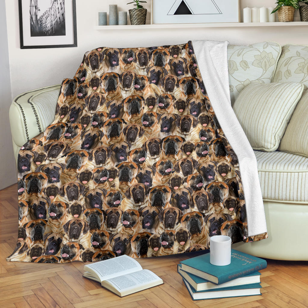 English Mastiff Full Face Blanket
