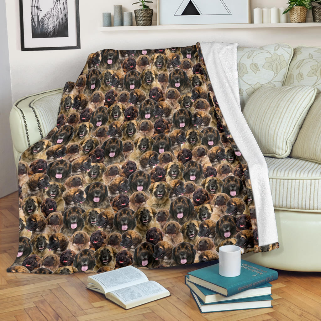 Leonberger Full Face Blanket