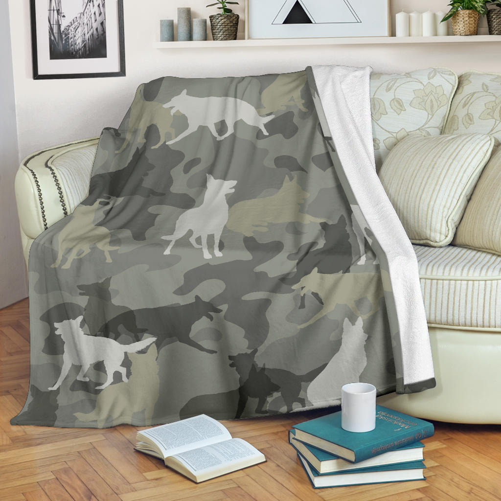 German Shepherd Camo Blanket