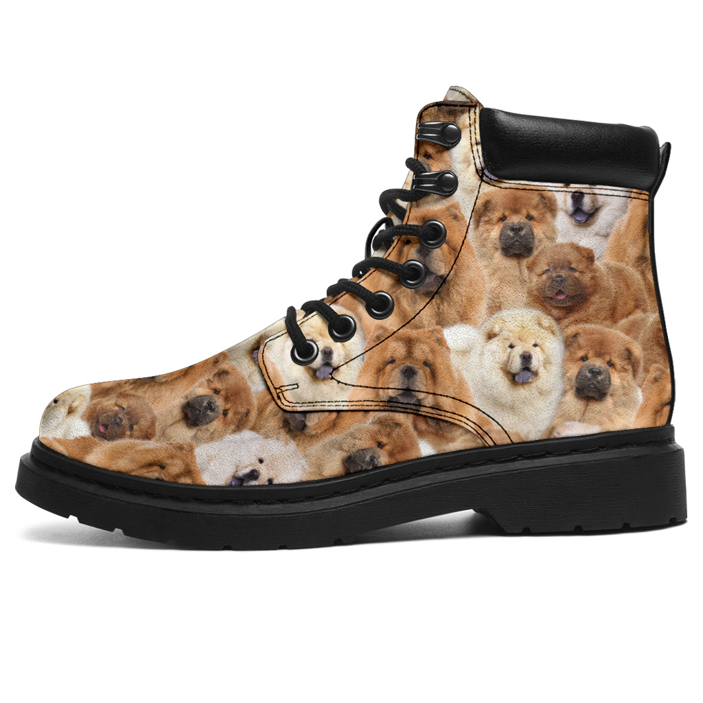Chow Chow Full Face All-Season Boots