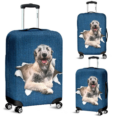 Irish Wolfhound Torn Paper Luggage Covers