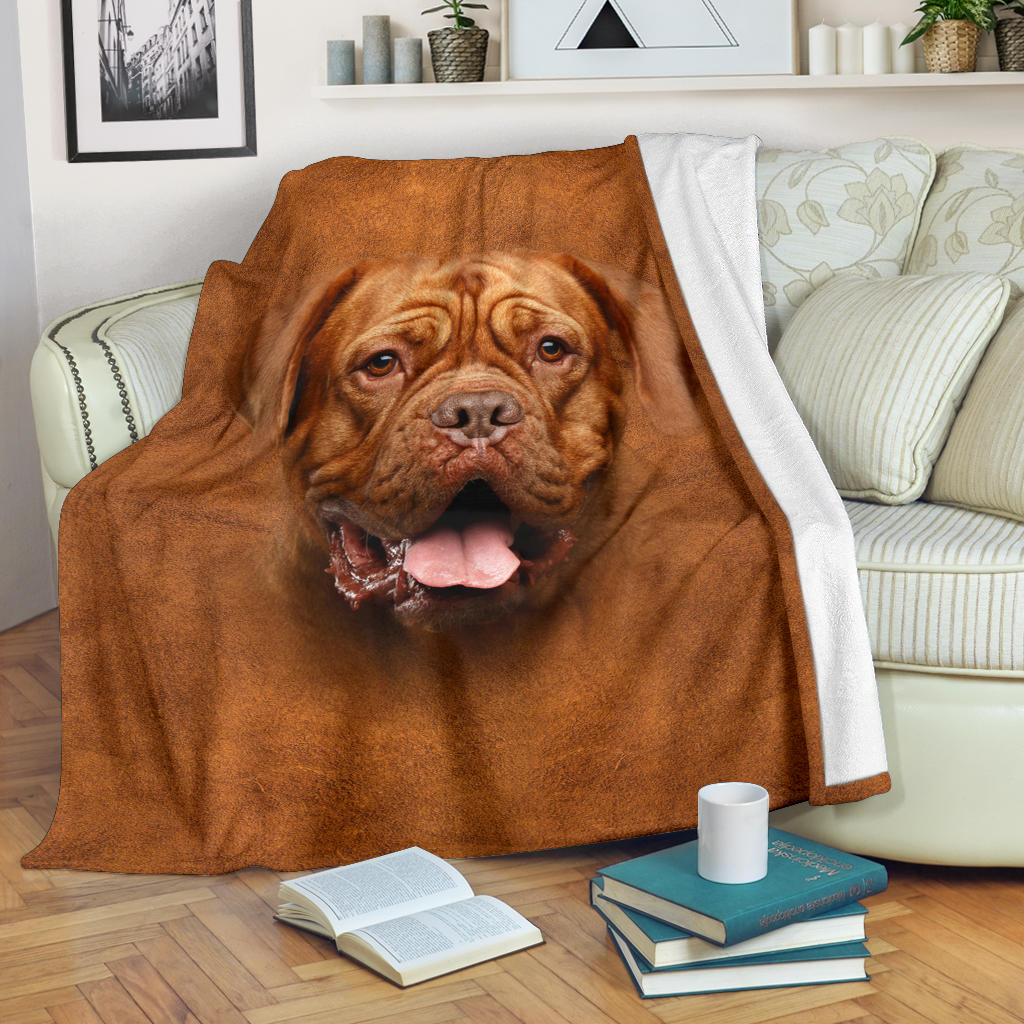 Dogue De Bordeaux Face Hair Blanket