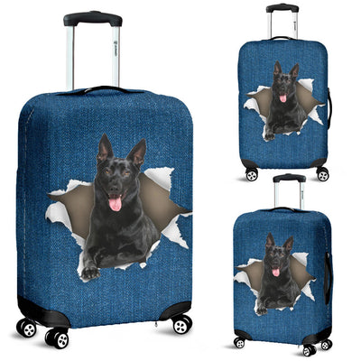Malinois dog Torn Paper Luggage Covers