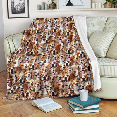 Beagle Full Face Blanket