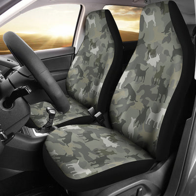Jack Russell Terrier Camo Car Seat Covers