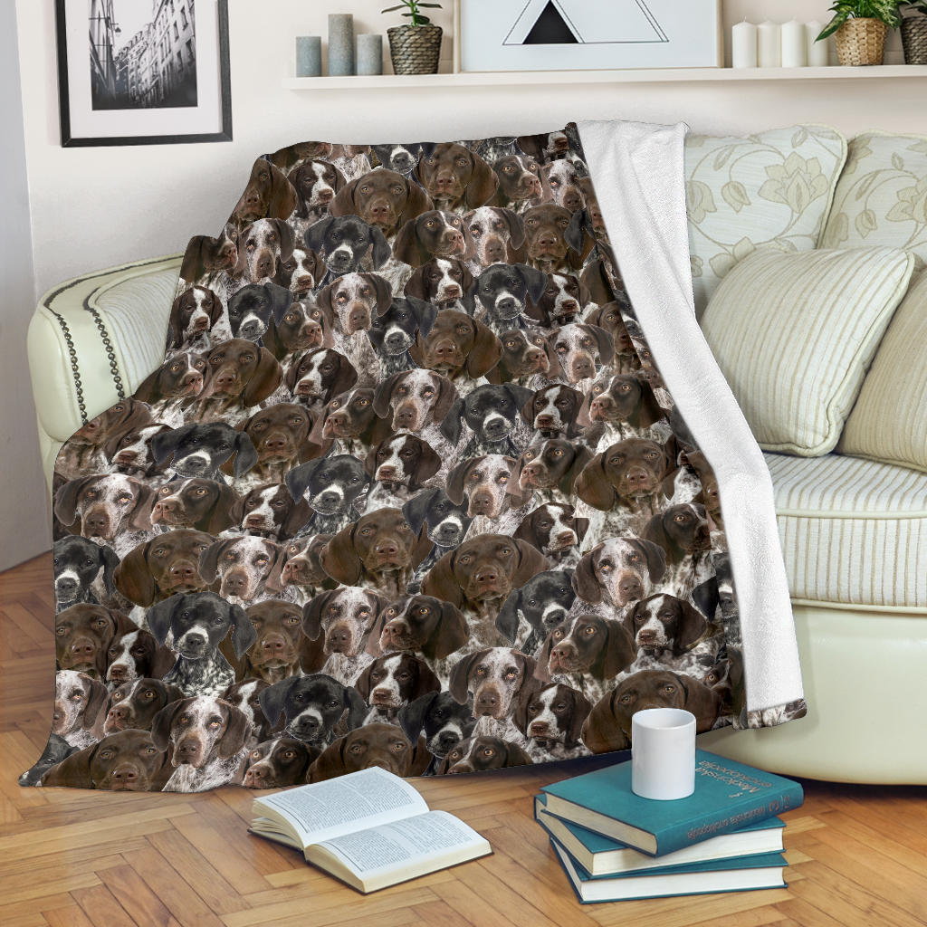 German Shorthaired Pointer Full Face Blanket