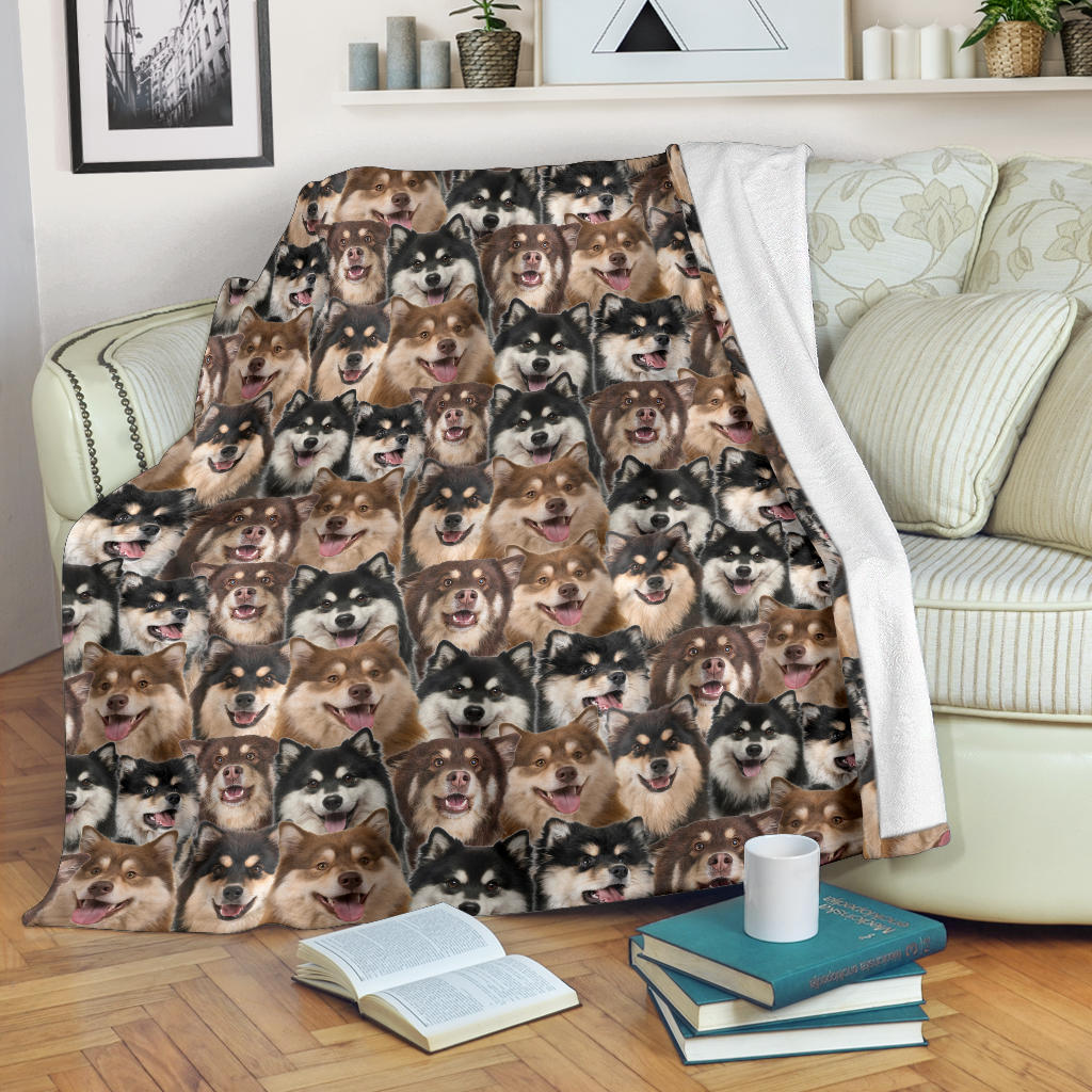 Finnish Lapphund Full Face Blanket