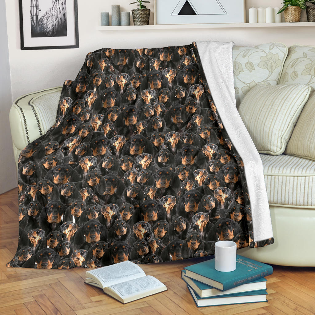 Black and Tan Coonhound Full Face Blanket