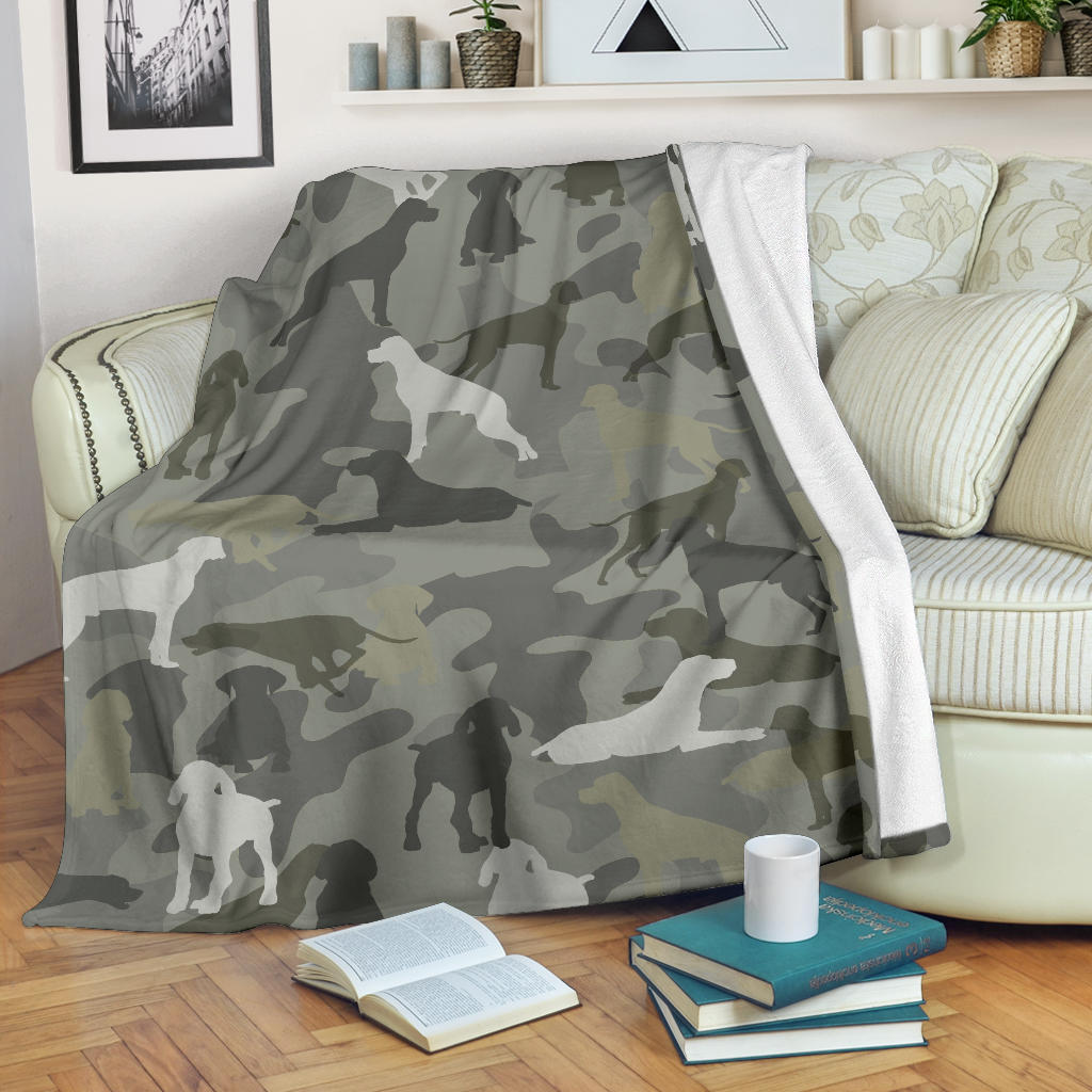 German Shorthaired Pointer Camo Blanket