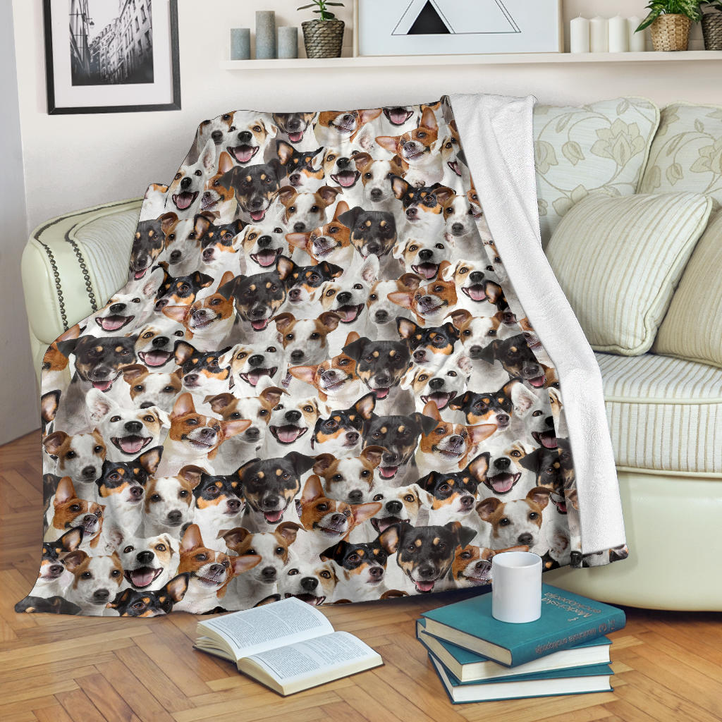 Jack Russell Terrier Full Face Blanket