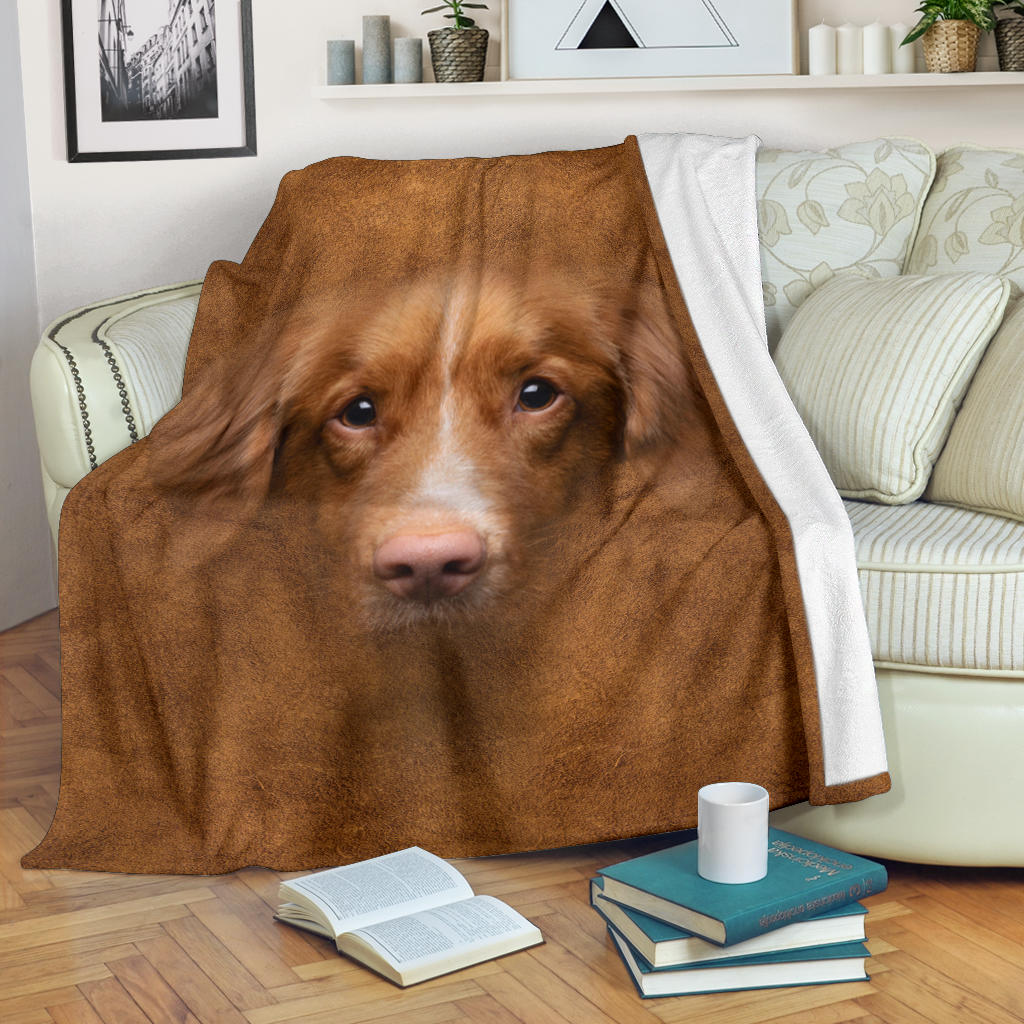 Nova Scotia Duck Tolling Retriever Face Hair Blanket