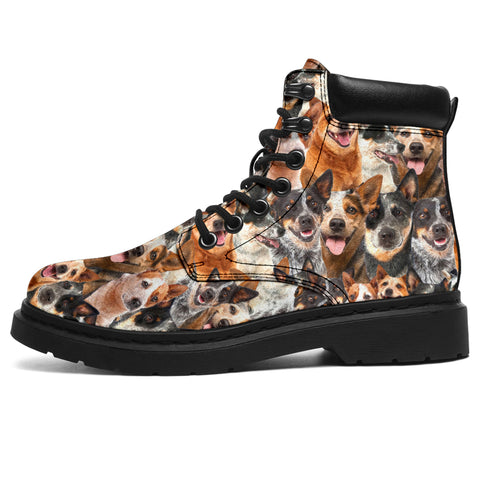 Australian Cattle Dog Full Face All-Season Boots