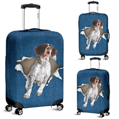 German Shorthaired Pointer Torn Paper Luggage Covers
