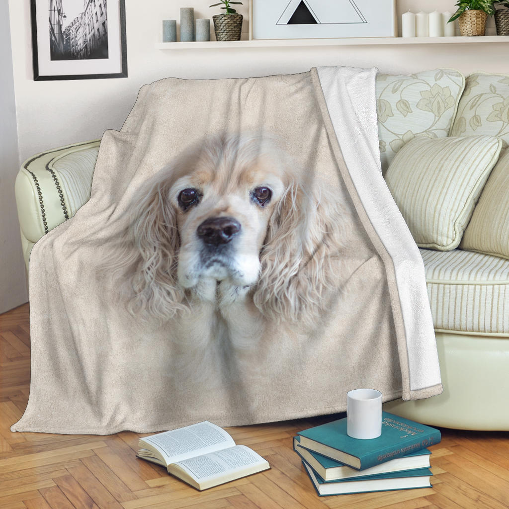 American Cocker Spaniel Face Hair Blanket