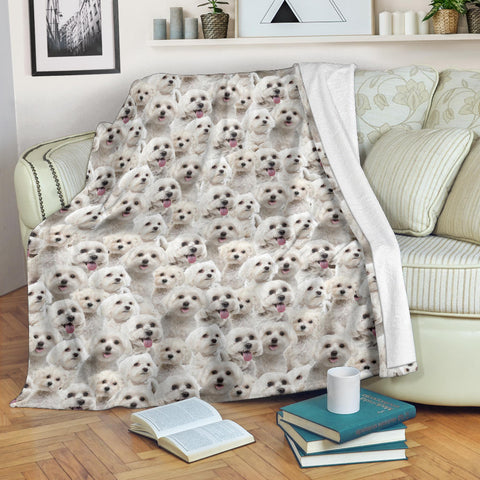 Maltese Full Face Blanket
