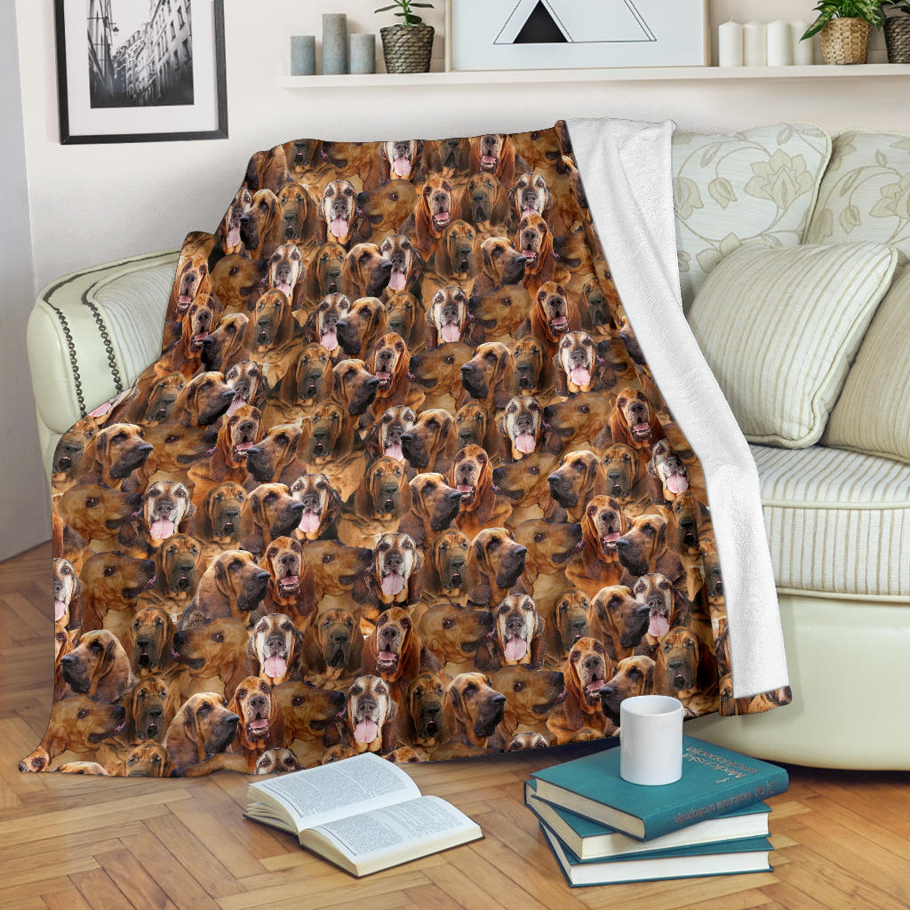 Bloodhound Full Face Blanket