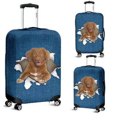 Nova Scotia Duck Tolling Retriever Torn Paper Luggage Covers