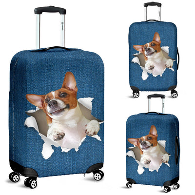 Jack Russell Terrier Torn Paper Luggage Covers