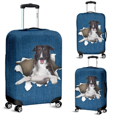 Borzoi Torn Paper Luggage Covers