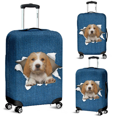 Grand Basset Griffon Vendeen Torn Paper Luggage Covers