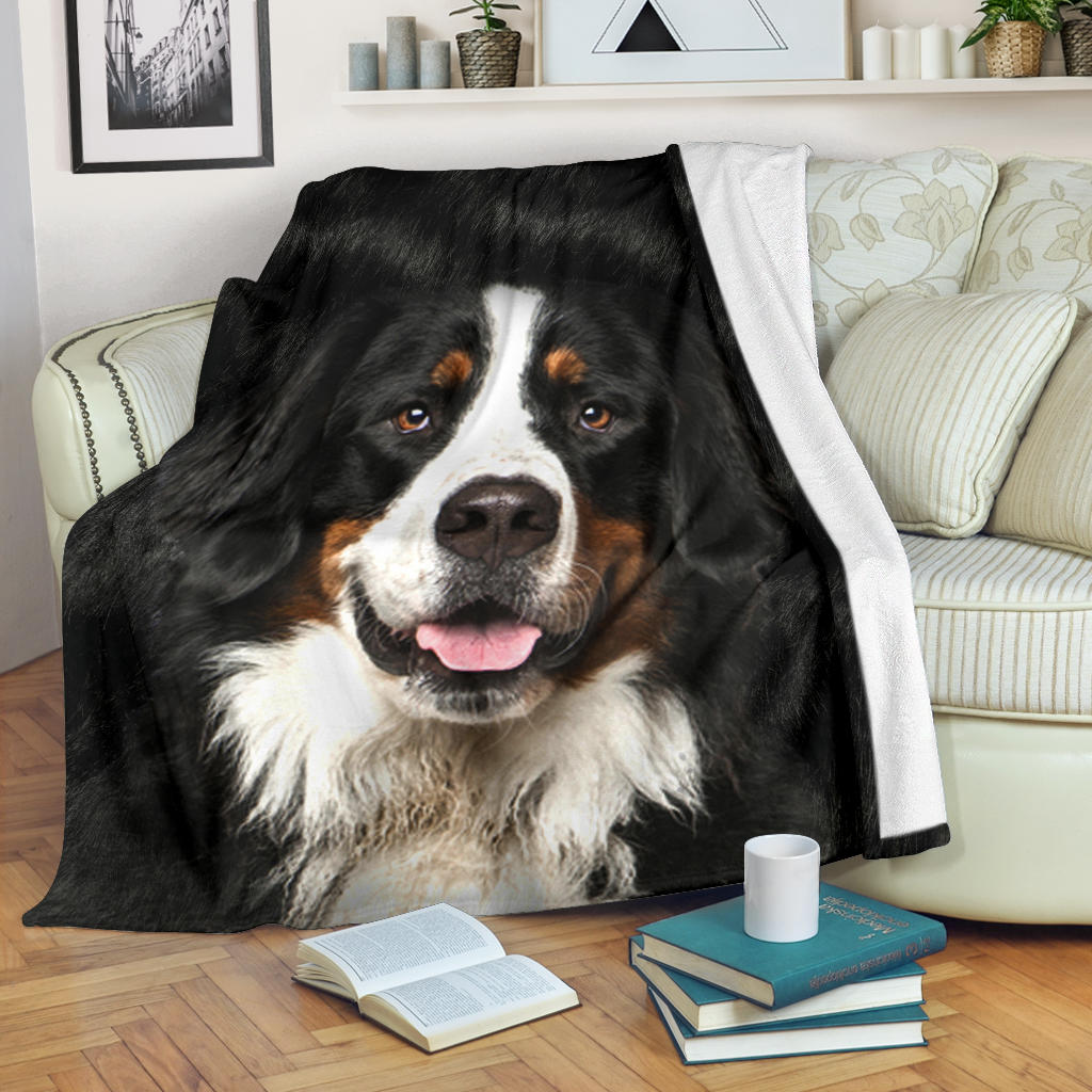 Bernese Mountain Dog 2 Face Hair Blanket