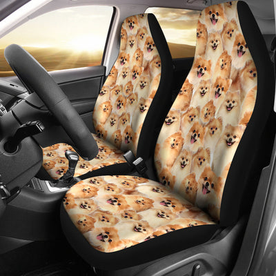 Pomeranian Full Face Car Seat Covers