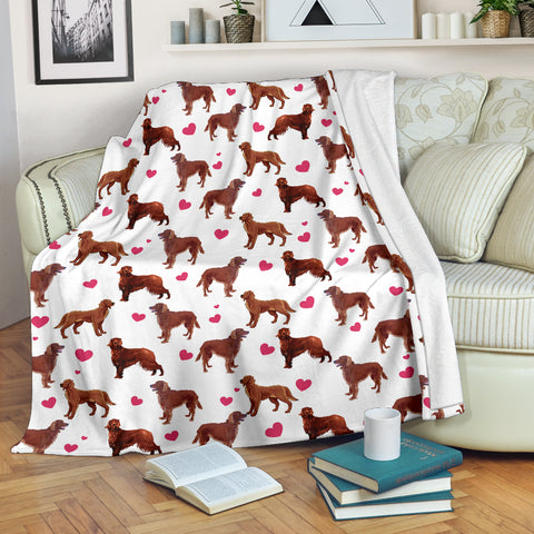 Irish Setter Heart Blanket